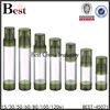 80ml green color cosmetic airless pump bottle
