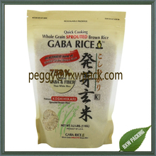 Stand up plastic bags for 1kg rice packaging