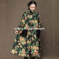caliente la venta de invierno 2014 floral de gran tamaño chino las mujeres abrigo de invierno modelo