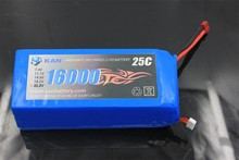 KAN 22.2V 16000mAh 25C rechargeable lithium polymer polymer or li-ion battery pack for mini rc car, boat, airplane and uav