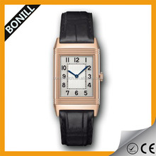 OEM /ODM Watch Factory Price Direct Sale Square Shaped Man Watch with Leather Double Strap
