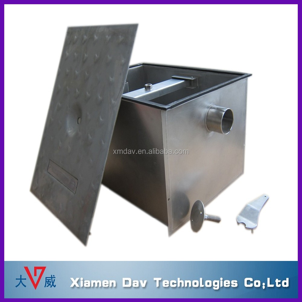 plumbing drainage institute certified steel kitchen grease trap for restaurant