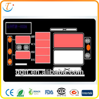China LED LCD high quality household appliances backlight auto custom metal dome membrane keyboard