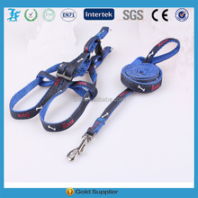 blue jeans leash trainning leash and harness wiht custom logo