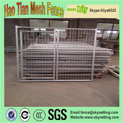 China Haotian supplier Large outdoor chain link dog kennel / dog cages, welded wire dog kennel / pet enclosure.