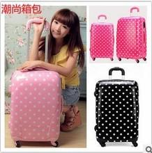 Fashion Polka dot Hard Shell Trolley Luggage Bags PC+ABS luggage CS-8034