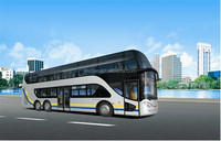 12.9m Double decker top open city bus for scenery
