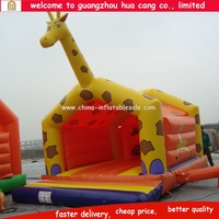 2015 safe Best selling pvc giraffe inflatable children's games, inflatable bouncer games