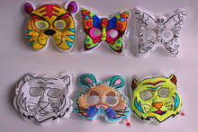 Educational Novelty DIY Mask , inflatable colorable mask for promotion