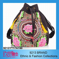 Chinese style school Ethnic Style Vintage embroidered bag, Fashion lady cotton bags, dual use one shoulder double shoulders bag