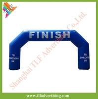 Outdoor racing inflatable start/finish line arch