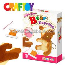 Diy toy sewing Bear keyring made in china