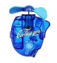 battery power source water bottle spray fan