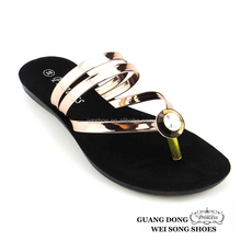 fashion fancy wholesale new style diamond flat mature flip flops women slippers