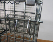 Evergreat Zinc-coated folding wire mesh storage cage
