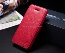 2015 Super Fashion High Quality Flip Genuine Leather Case For Iphone 6 Plus Wallet Pocket Cover Case