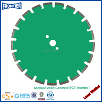 Laser welded saw blade with tct inserted