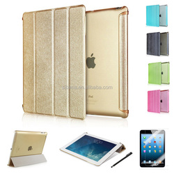 wholesale Top Quality Luxury Fashion Business Intelligent Sleep Flip Pu Leather + tpu Cases for ipad air 2 Smart case
