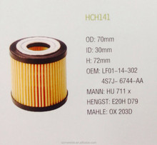 PEUGEOT/ TOYOTA/ MAZDA USACAR / OEM LF01-14-302/ 4S7J-6744-AA Factory High Quality Auto Oil Filter