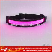 new business idea Nylon webbing led flashing Belt waist adjustable waist trimmer belt