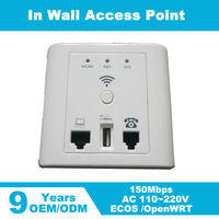 Easy to Install 150M Wifi Inwall AP for Hotel