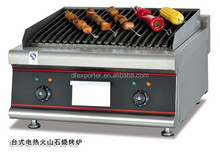 High quality counter top electric lava rock grill