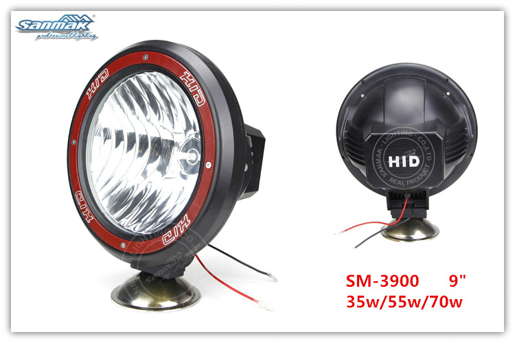 "4""/7""/9"" ATV,moto,SUV, 4X4 off road, truck,trailer, snow bike HID work light xenon driving lamp SM3410"