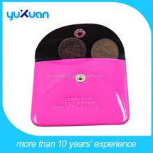 pu cute mini coin purse with button