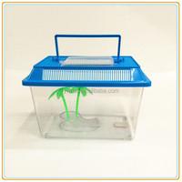 Free sample mini Plastic aquarium fish tank with Cover and handle