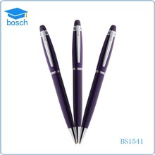 Promotional metal ballpoint pen brand with flashlight diamond on the top