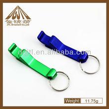 Mini metal aluminium keychain beer opener