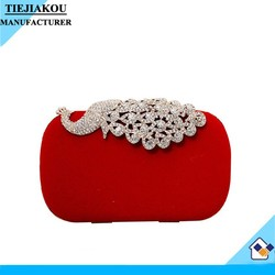 wholesale crystal peacock clutch bag women evening bag