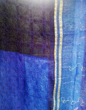 New Arrival 2015 , Quality Vintage Kantha quilt Indian Reversible Quilts Pure Cotton Made Indigo Blue Queen quilt