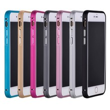 2015 new top design protect bumper back metal case cover for mobile phone