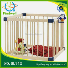 Hot sale wooden baby playpen travel cot/baby safety gates