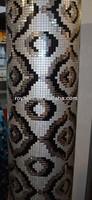 DIY Self-Adhesive Aluminium Composite Mosaic Pattern Mural