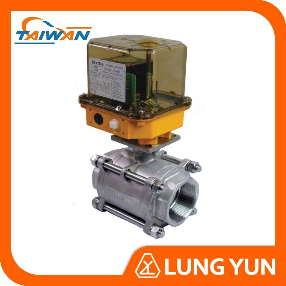 Electric actuator flow control proportional ball valves for Motorized flow control valve