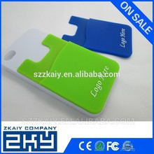 Portable 3m sticker silicone card hold for cell phone
