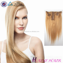 Thick Ends ! Popular Double Drawn Factory Cheap Clip In Eurasian Hair Extension