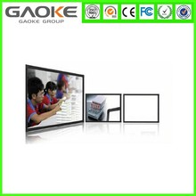 red color erasable magnetic tempere glass writing board /memo boad/drawing board with hdmi usb port for classroom