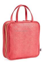 Large Pink Snake PU Cosmetics Case