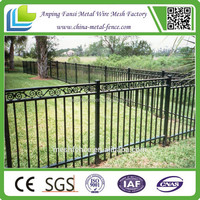 used alibaba express ornaments powder coated iron yard steel fence to sale