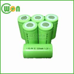 1.2V nimh sc rechargeable battery 1.2V 3200mAh nimh sc 3200