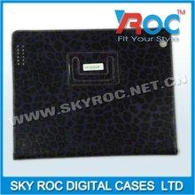 2013 Fashion Purple Leopard grain pattern for iPad 2 iPad 3 leather case
