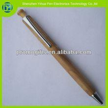 2014 High-end gifts wood click ball pen wooden manual pen wood Beating pen