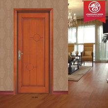 Solid Wood Single Entry Doors for Home Hotel or School, Quality HDF Composite Wood doors