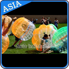 Multi-Colors Bubble Soccer Ball /new design cheap half color tpu human sized inflatable bubble soccer ball