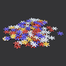snowflakes shape sequins