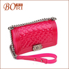Hot fashion jelly clear colorful plastic handbags for 2014 summer