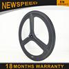 for sale light new Aerodynamic design shape 3 spoke wheel with Max ride weight 120kg 66mm carbon three spoke wheel 23mm 700c